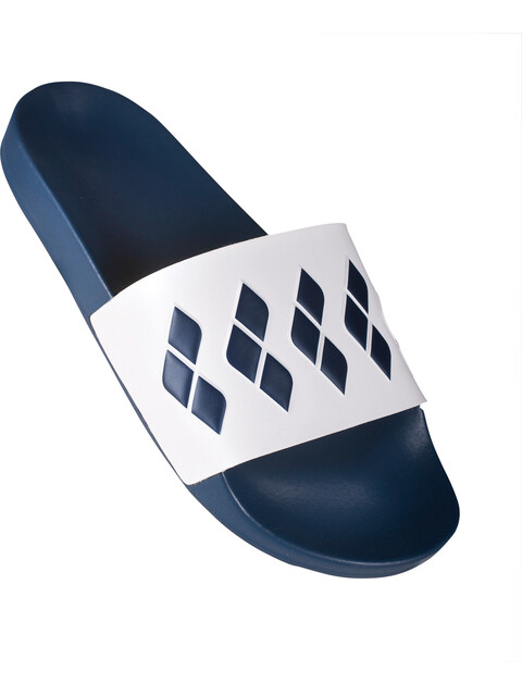 arena Team Stripe Slide Teenslippers en sandalen blauw/wit